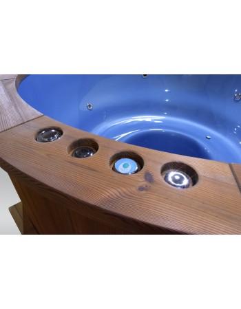 Išskirtinis stiklo audinio kubilas mėlyno spalvos 182cm