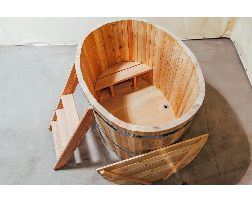 Деревянная ванна для бани из лиственницы