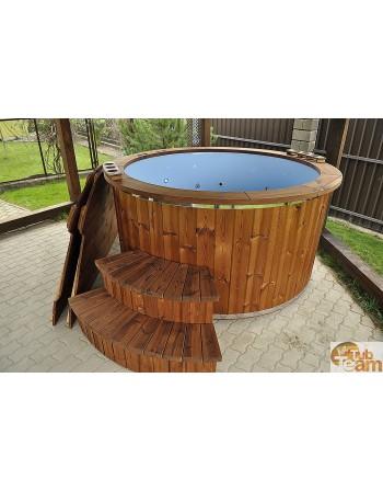Стеклянная гидромассажная ванна с массажем